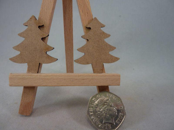 2 mm MDF Christmas Trees - 4 cm without hanging hole