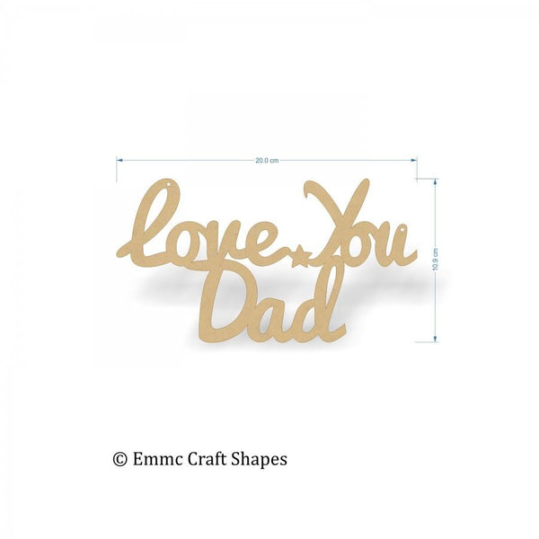 Love You Dad Text - 20 cm