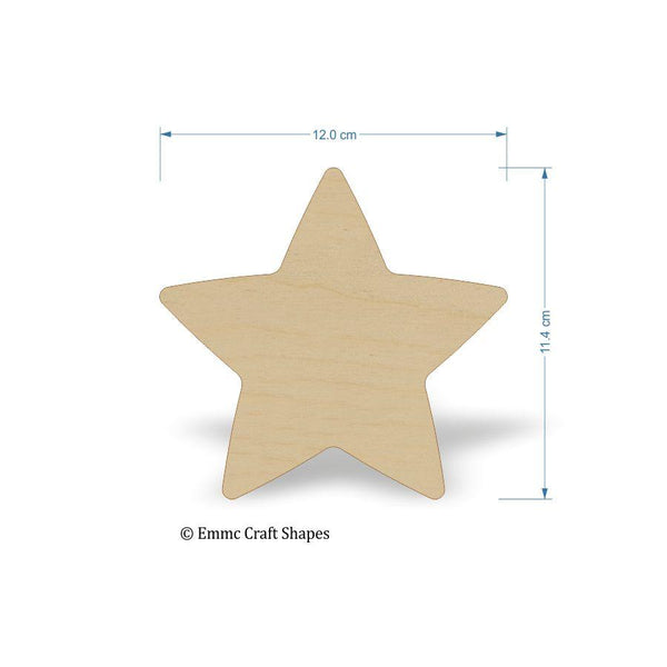 Plywood Star Shape - 12 cm Blank