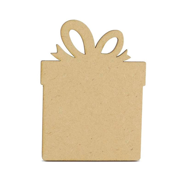 3mm MDF Wooden Present - 8 cm without hanging hole