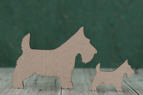 3mm MDF Scottie Dogs