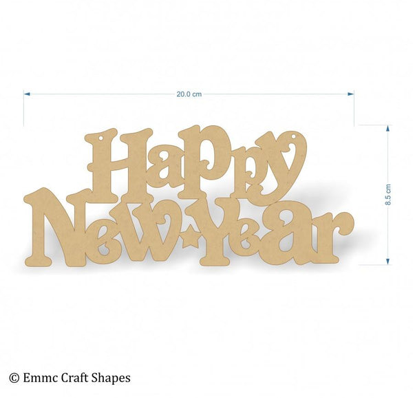 Happy New Year Text - 20 cm