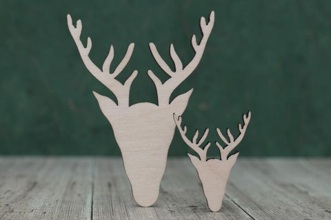 Plywood Scottish Stag Head Shape