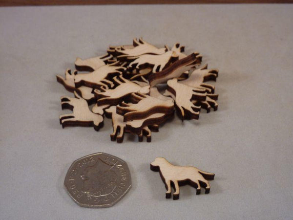 Plywood Wooden Labrador Blank - Mini 2 cm