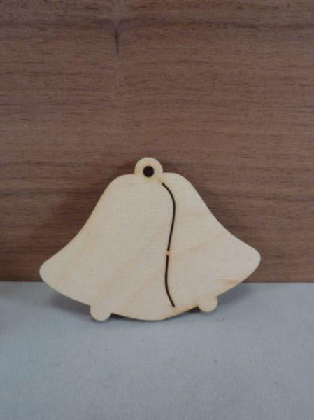 4 mm Plywood double bell shapes with hanging hole
