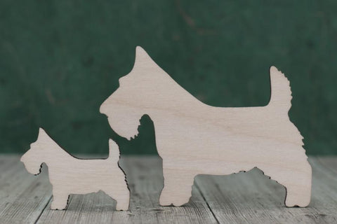Plywood Scottie Dog Blanks
