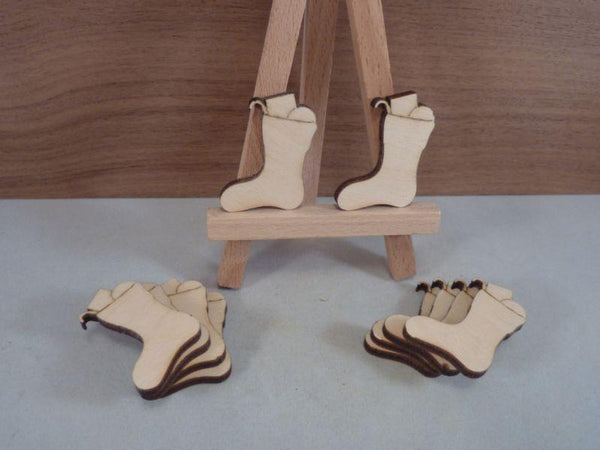 Plywood Christmas Stocking with Presents without hanging holes