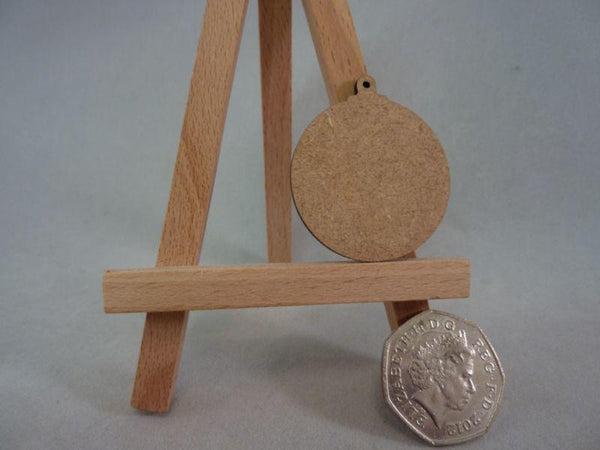 2 mm MDF Baubles - 4 cm with hanging hole