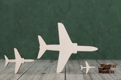 Plywood Jet Plane Craft Blank