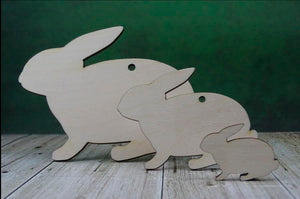 Plywood wooden rabbit craft shapes