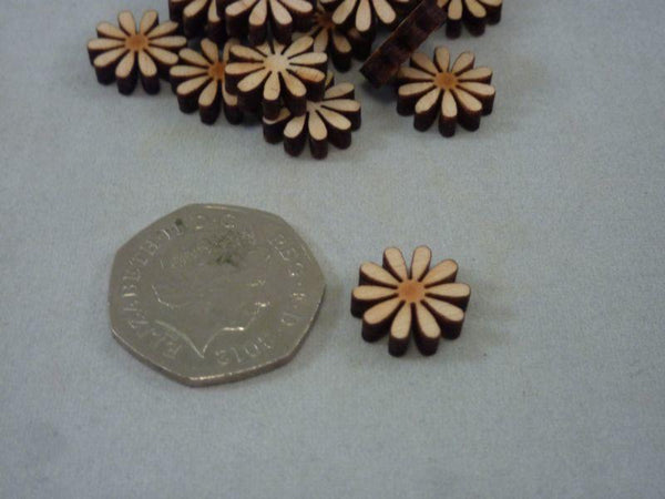 4 mm Plywood Daisy Shape - Mini 1.5 cm
