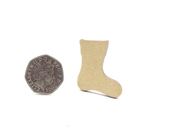 3 mm MDF Stocking Blank - 4 cm Without Hanging Hole