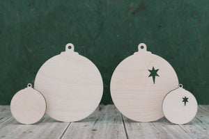 Plywood Baubles