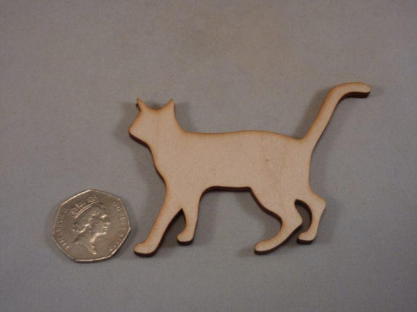 Plywood Cat Blank Cut Out - 9.4 cm