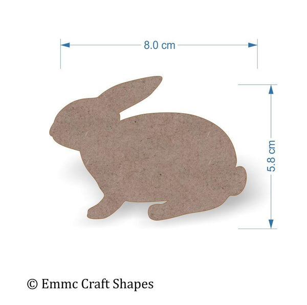 2mm MDF Rabbit Craft Tags - 8 cm