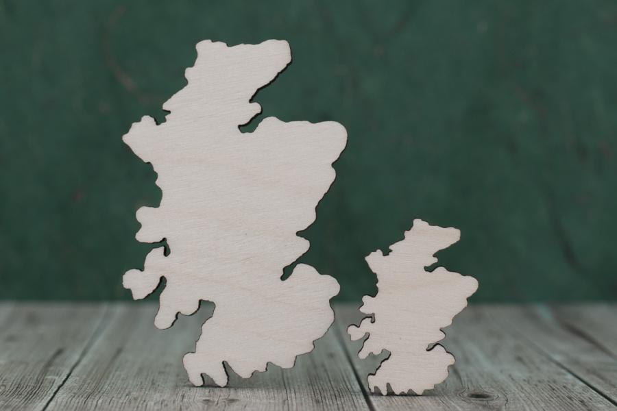 Plywood Scotland Map Blank