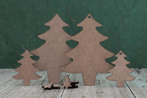 2 mm MDF Christmas Trees