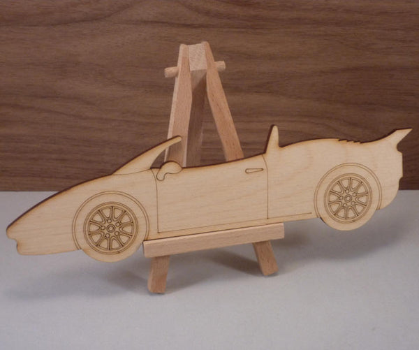 4 mm Plywood Sports Car Shape - 21.4 cm