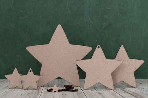 3mm MDF Star Shape Blanks