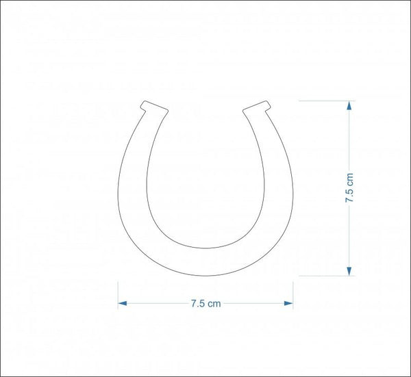 3mm MDF Horseshoe Craft Hanger/Tag - 7.5 cm