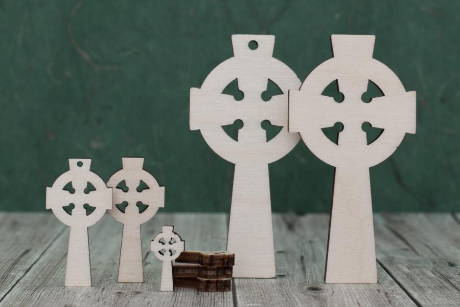 4 mm Plywood Celtic Cross Blanks