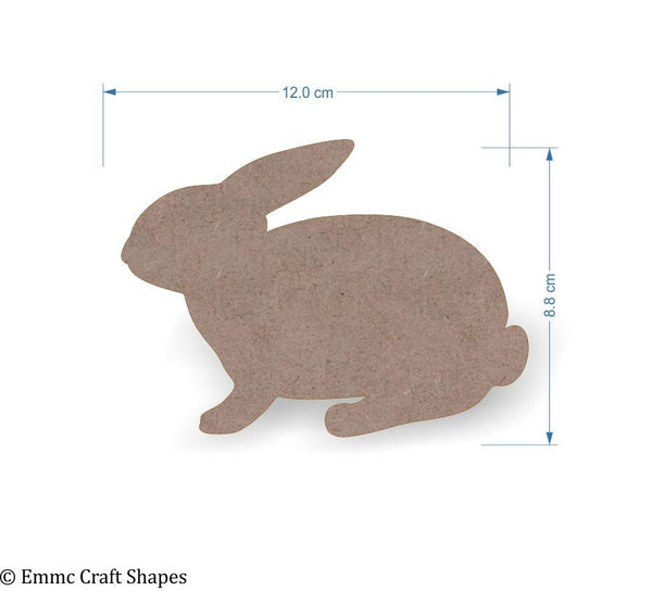 2mm MDF Rabbit Craft Tags - 12 cm