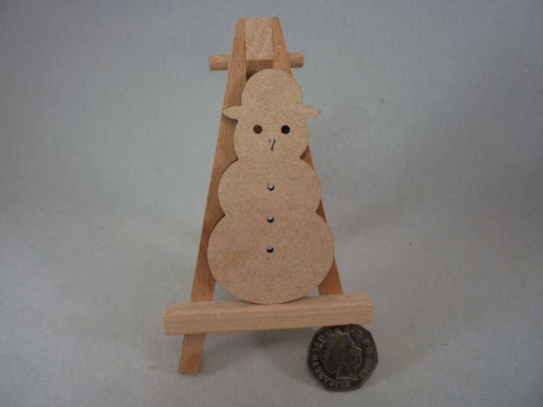 3mm MDF Snowmen - 8 cm without hole
