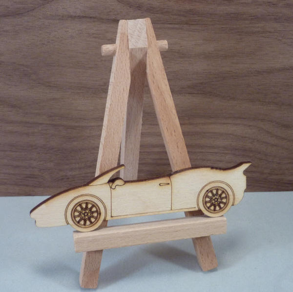 4 mm Plywood Sports Car Shape - 10.7 cm