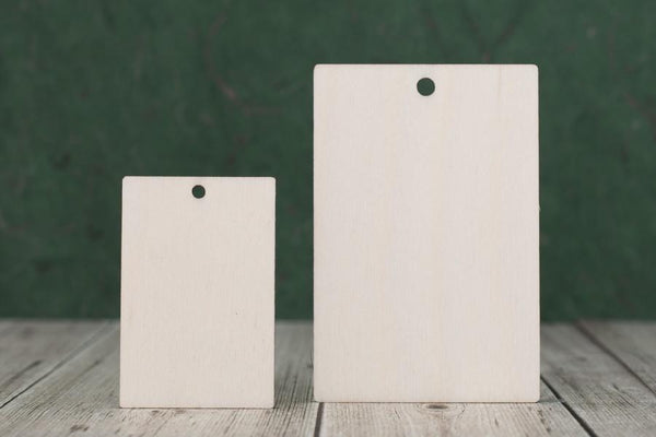 Plywood Rectangle Craft Tag/Blanks