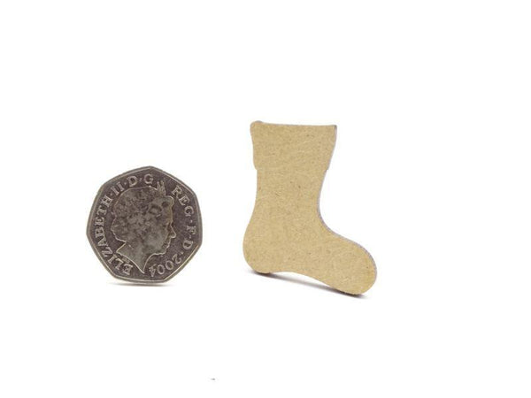 3mm MDF Stocking Blank - 4 cm Without Hanging Hole