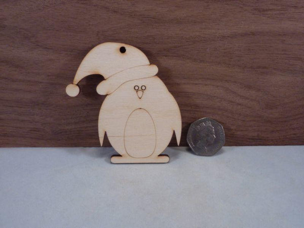 4 mm Plywood Christmas Penguin Shape - 8 cm