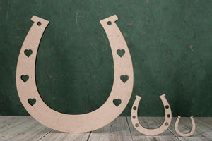 3mm MDF Horseshoe Craft Hanger/Tag