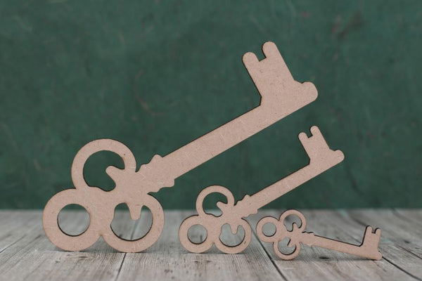 3mm MDF Key Shapes