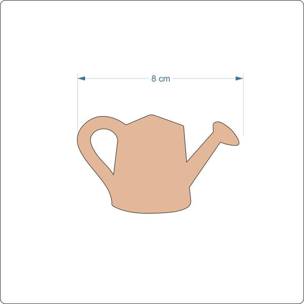 3 mm MDF Watering Can Cut Out - 8 cm
