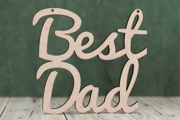 4 mm Plywood Best Dad Script Text