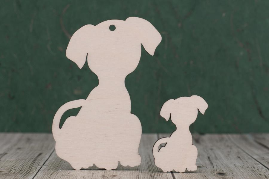 4 mm Plywood Cute Dog Shape