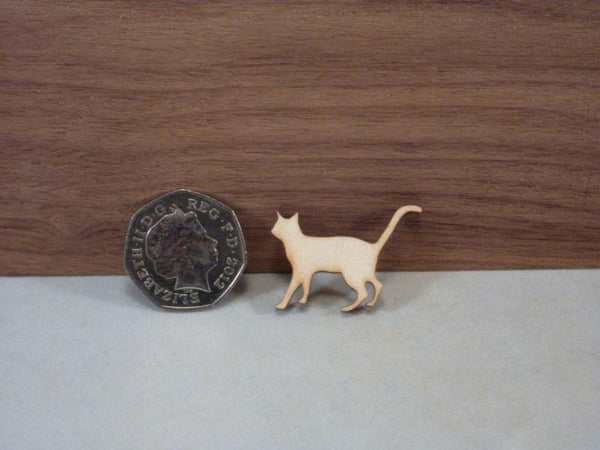 Plywood Cat Blank Cut Out - 3.4 cm