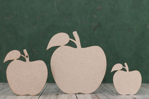 3 mm MDF Apple Craft Shapes