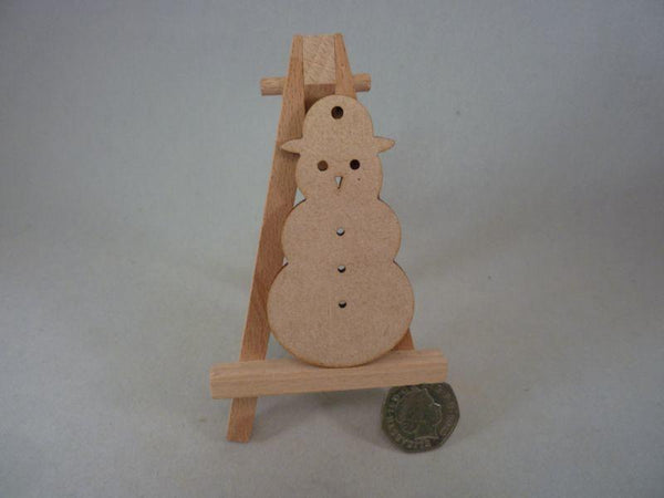 3mm MDF Snowmen - 8 cm with hole