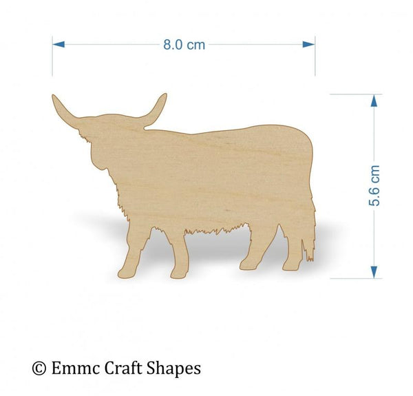 Plywood Scottish/Highland Cow - 8 cm