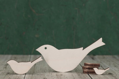 4 mm Plywood Birds