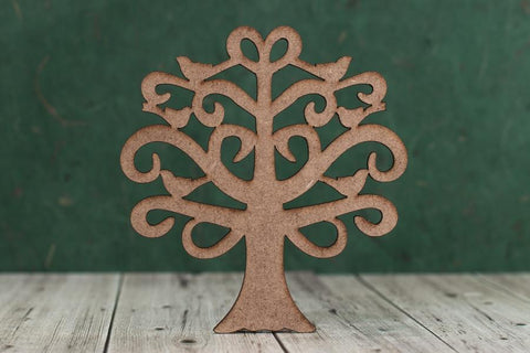2mm MDF Family Tree Cut Out