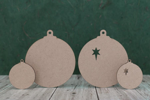 3 mm MDF Bauble Cut Outs