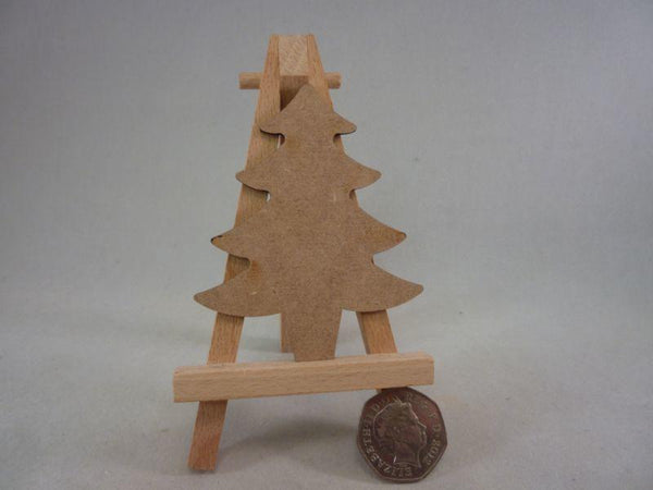 2 mm MDF Christmas Trees - 8 cm without hole
