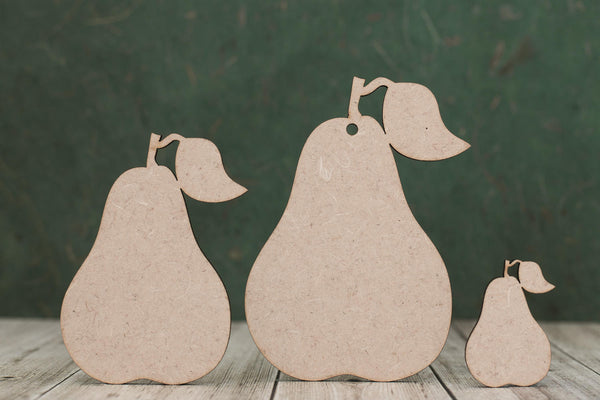3mm MDF Pear Shapes
