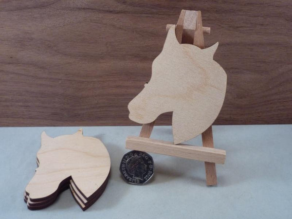 Blank Plywood Horse Head Shapes - 8 cm
