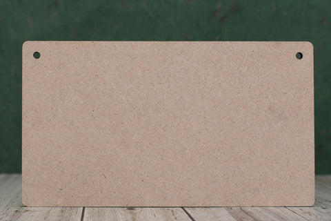14 cm Wide 3mm thick MDF Plaques with rounded corners
