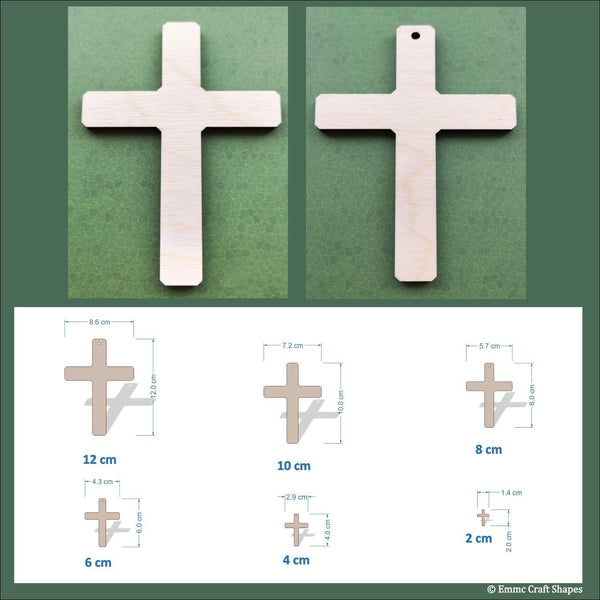 Cross Shape (plain) - 4mm Birch plywood