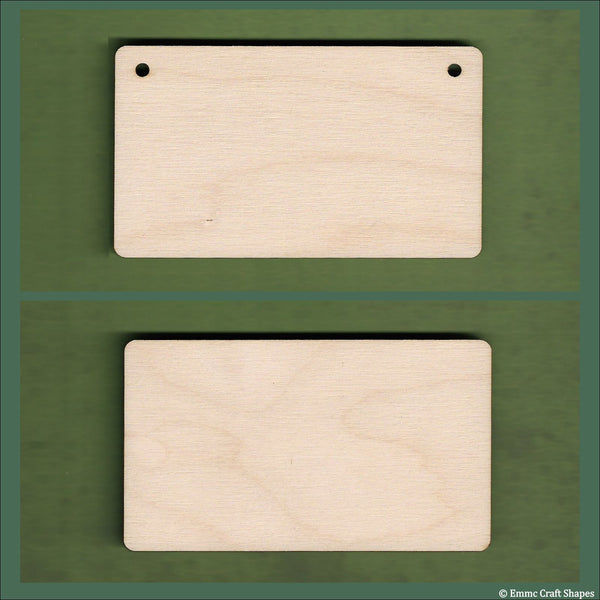 6 cm Wide 4mm thick Birch plywood Plaques with rounded corners