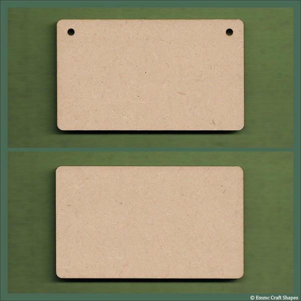 Plaques with rounded corners 3mm MDF